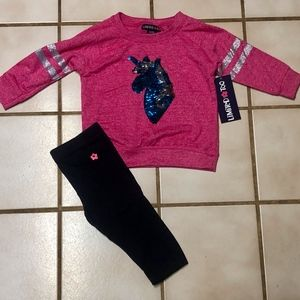 LIMITED TOO SEQUIN UNICORN OUTFIT NWT
